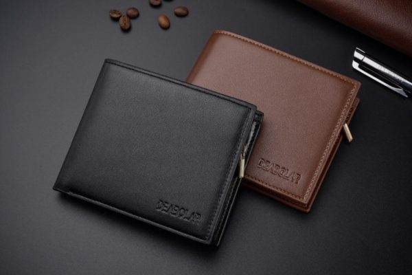 Leather Zipper Wallets